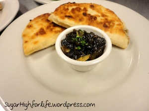 Crab Quesadillas with Green Chile Chutney